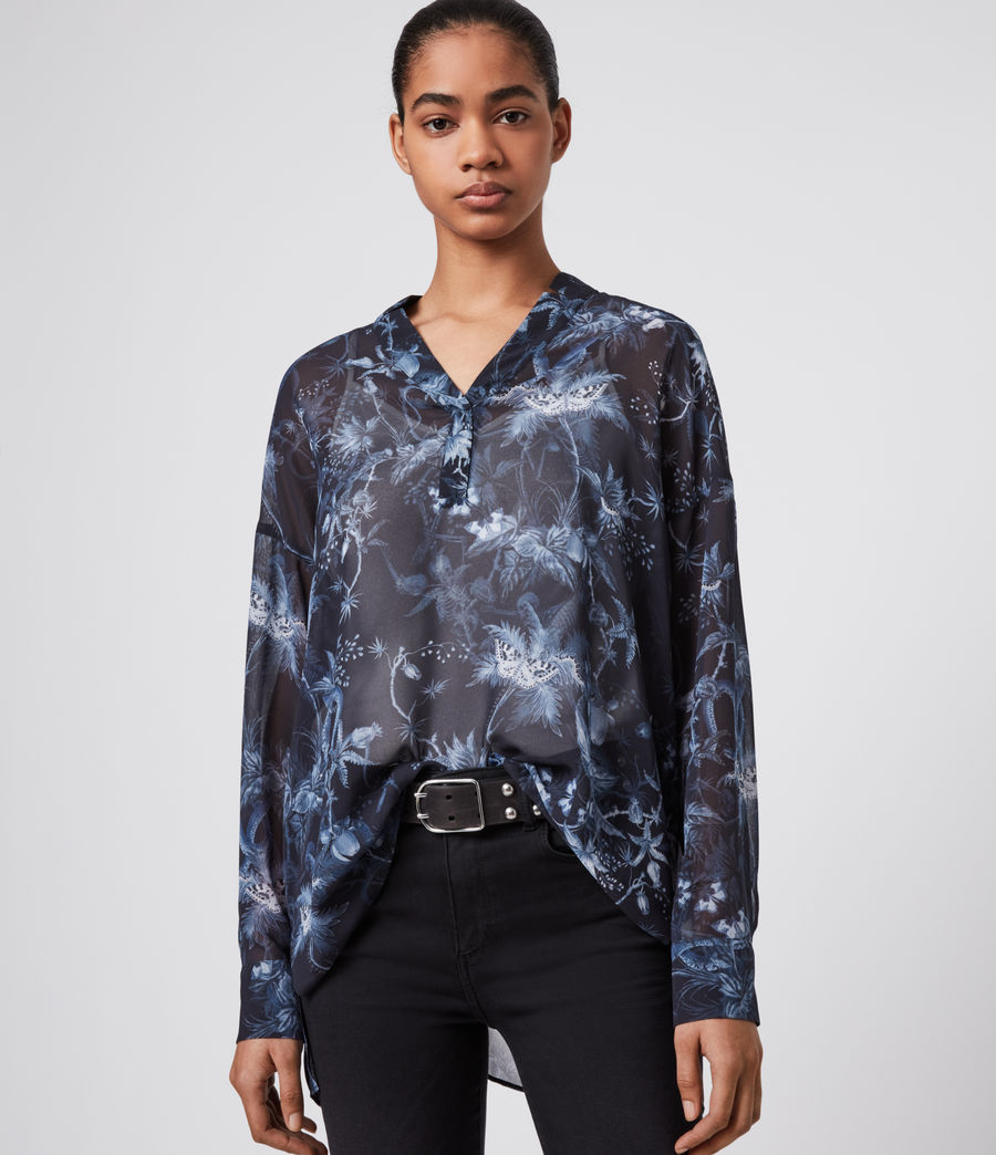 Womens Andia Evolution Shirt (navy_blue) - Image 1