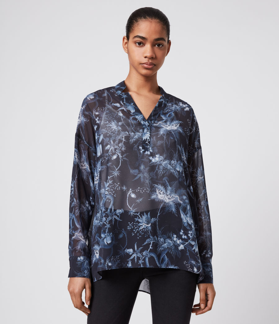 Womens Andia Evolution Shirt (navy_blue) - Image 4