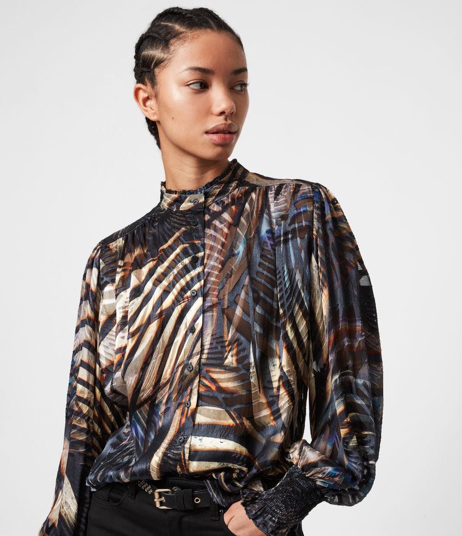 Women's Leonie Silk Blend Unison Top (black) - Image 1