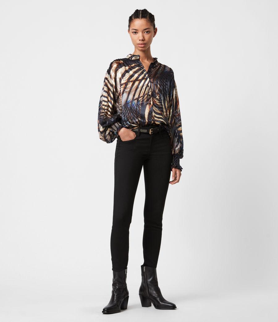 Women's Leonie Silk Blend Unison Top (black) - Image 4