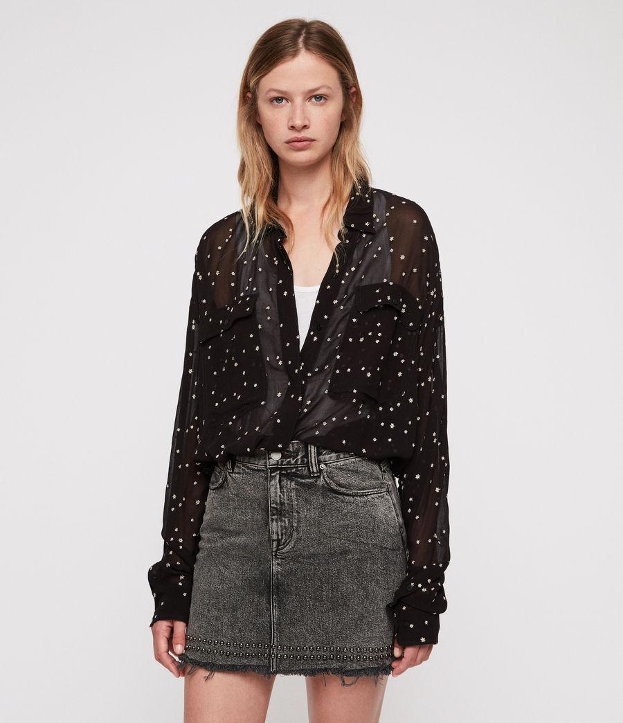 Damen Amari Star Hemd (black) - Image 1
