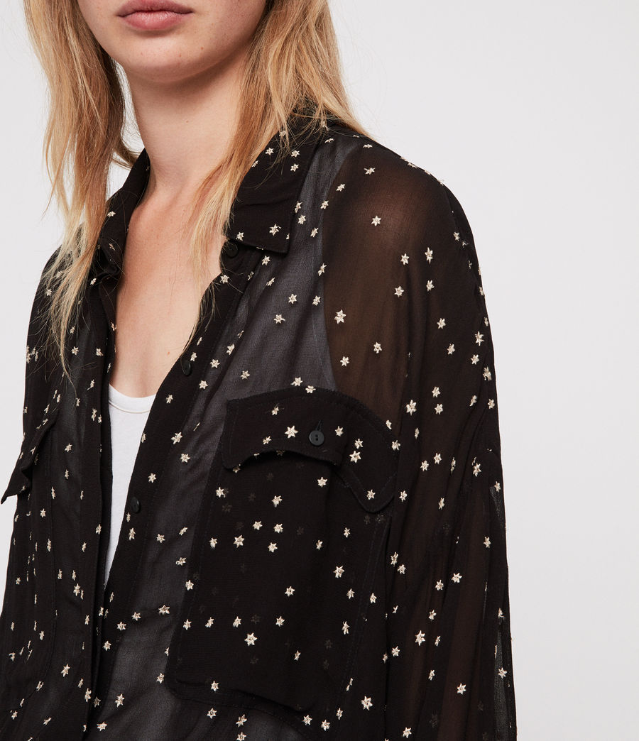 Damen Amari Star Hemd (black) - Image 4