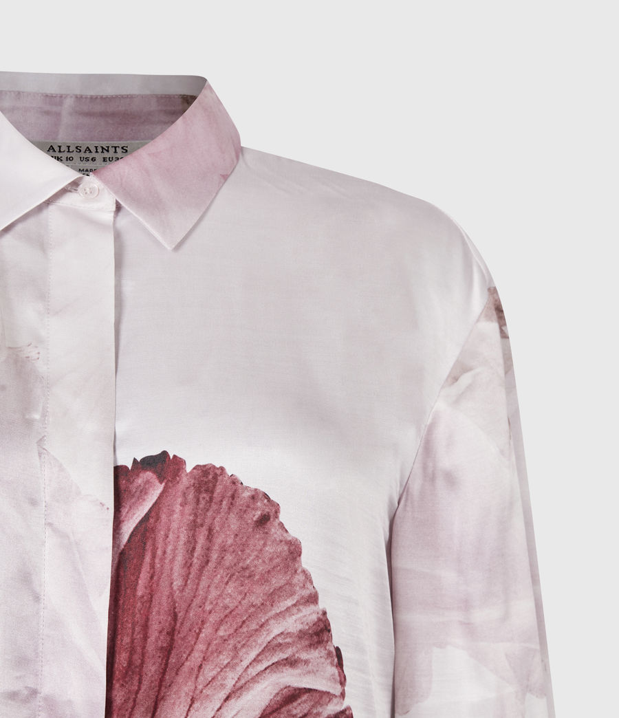 Women's Bernie Nubila Silk Blend Shirt (border_pink) - Image 5