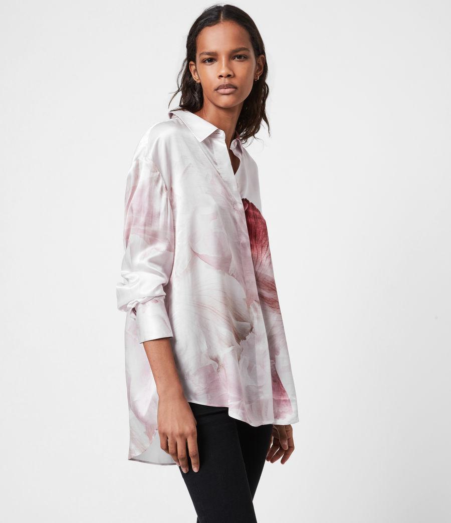 Women's Bernie Nubila Silk Blend Shirt (border_pink) - Image 6