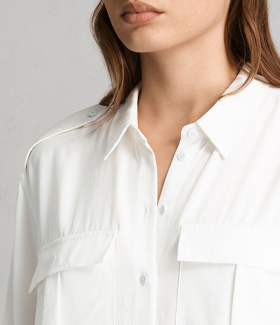 Women's Millie Shirt (chalk_white) - Image 2
