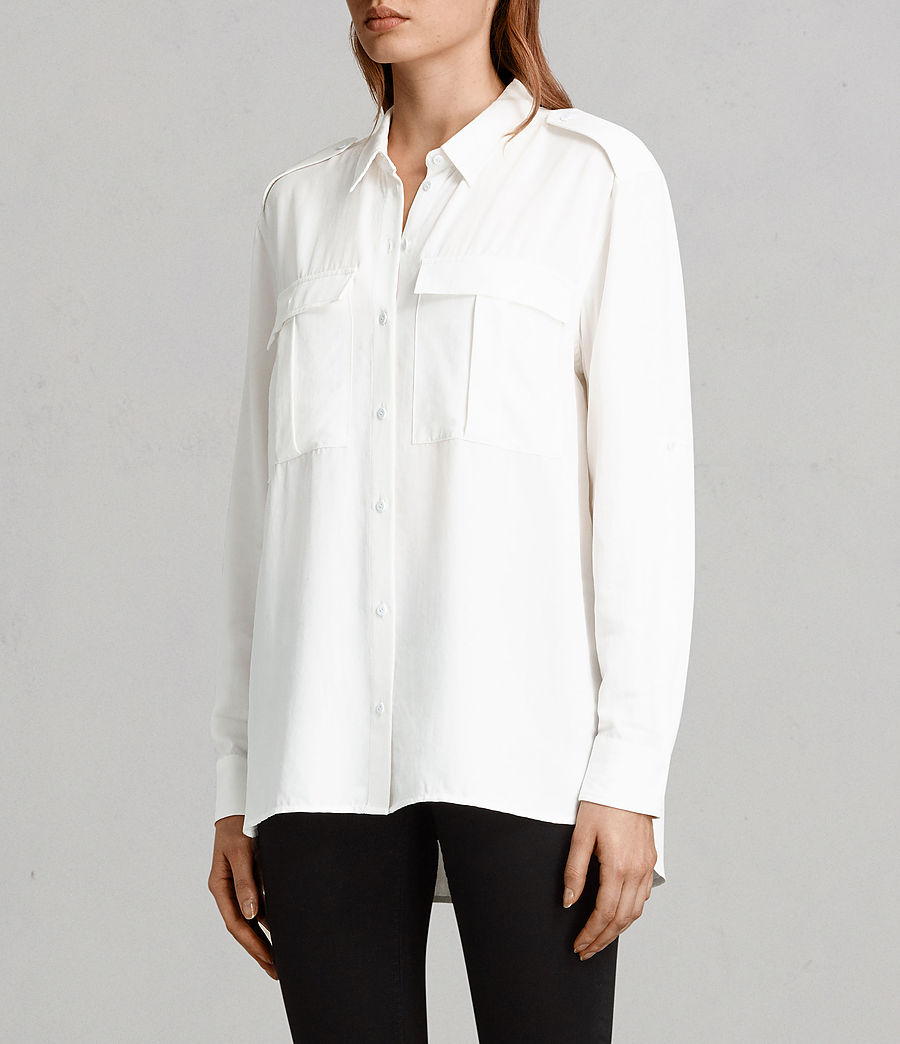 Women's Millie Shirt (chalk_white) - Image 3