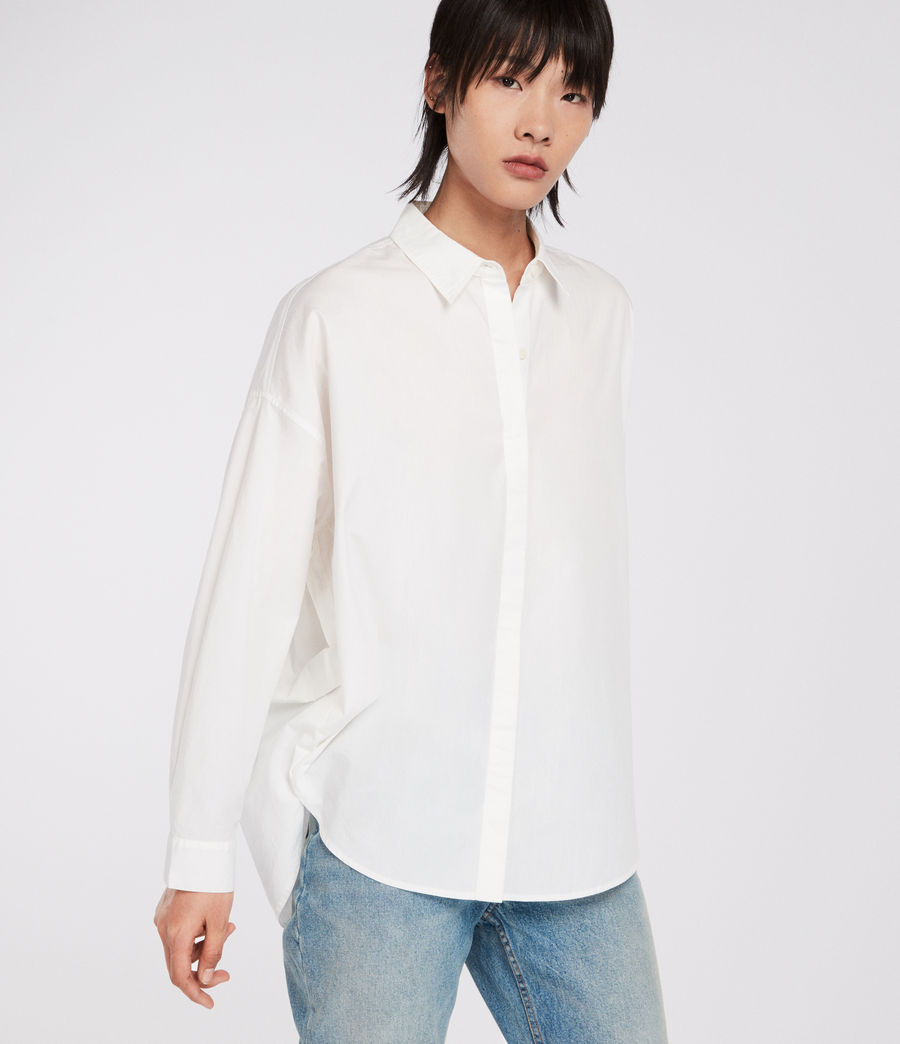 Womens Sada Shirt (chalk_white) - Image 4