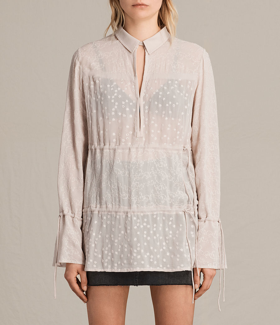 Mujer Camisa bordada Abelie (vintage_pink) - Image 1