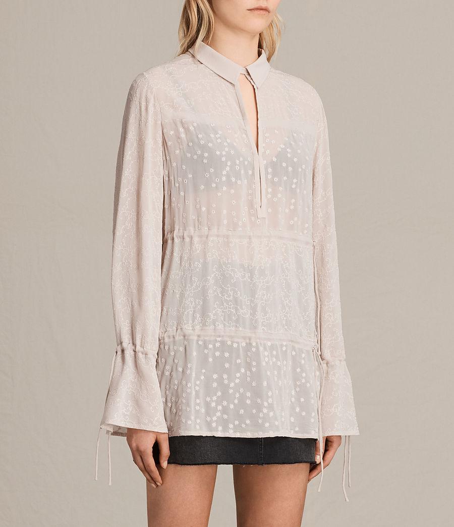 Mujer Camisa bordada Abelie (vintage_pink) - Image 2
