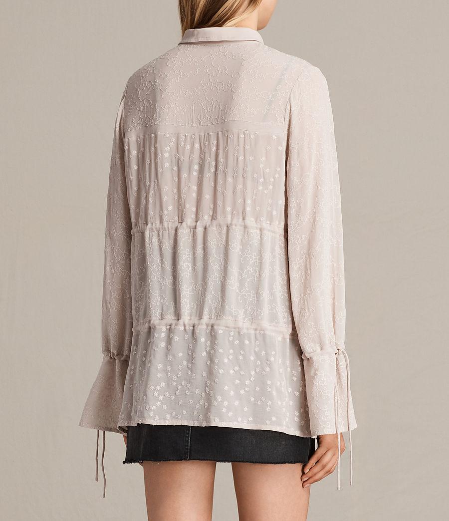 Mujer Camisa bordada Abelie (vintage_pink) - Image 3