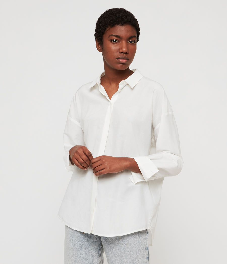 Womens Ava Shirt (chalk_white) - Image 2