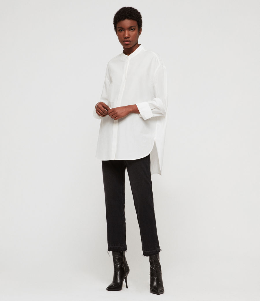 Women's Emi Shirt (chalk_white) - Image 5