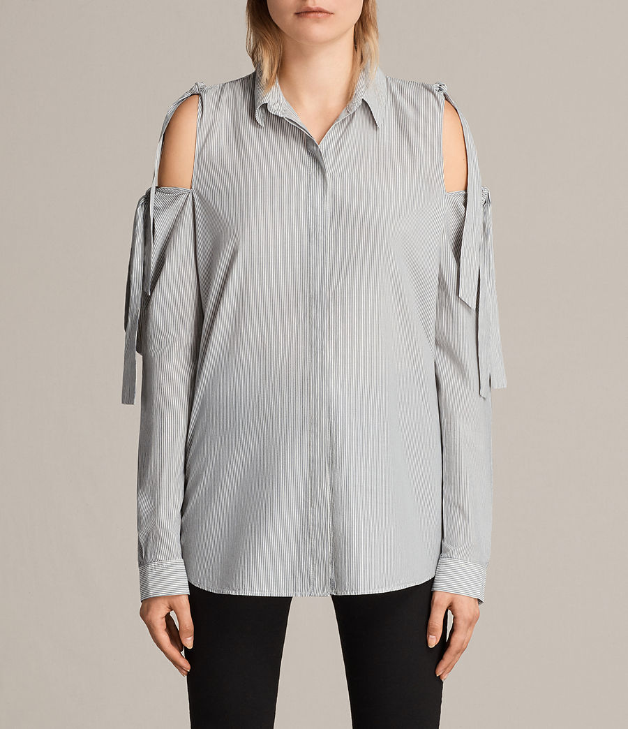 Womens Evelyn Shirt (stripe) - Image 1