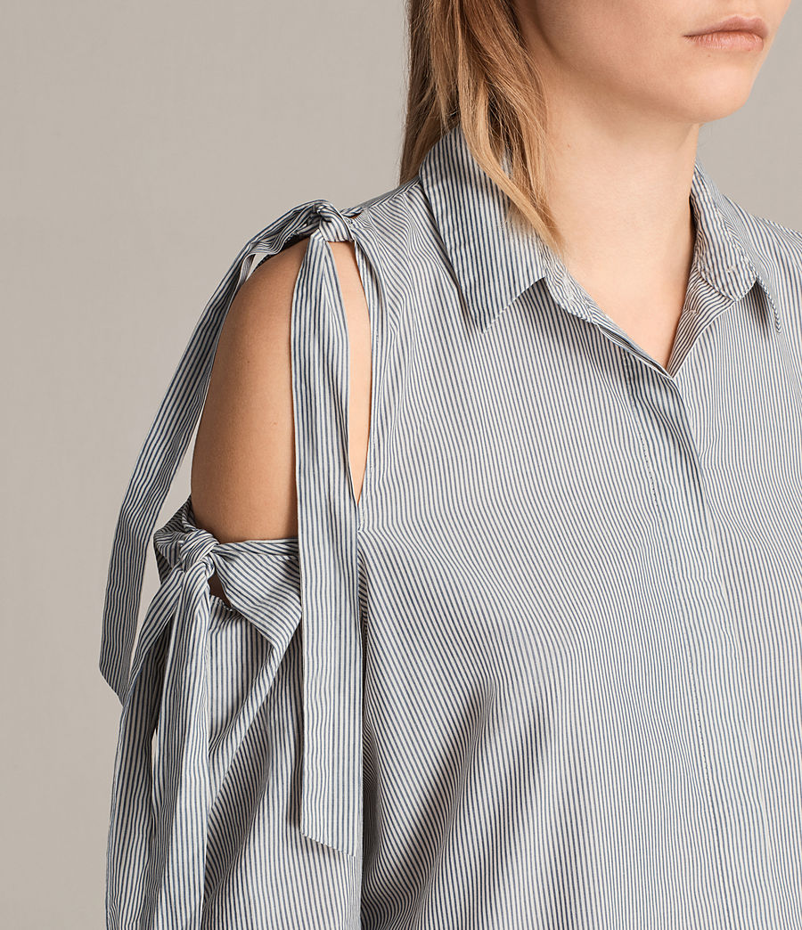 Womens Evelyn Shirt (stripe) - Image 2