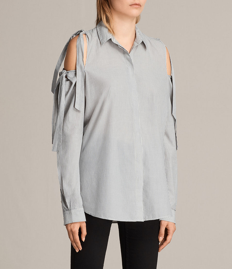 Womens Evelyn Shirt (stripe) - Image 3