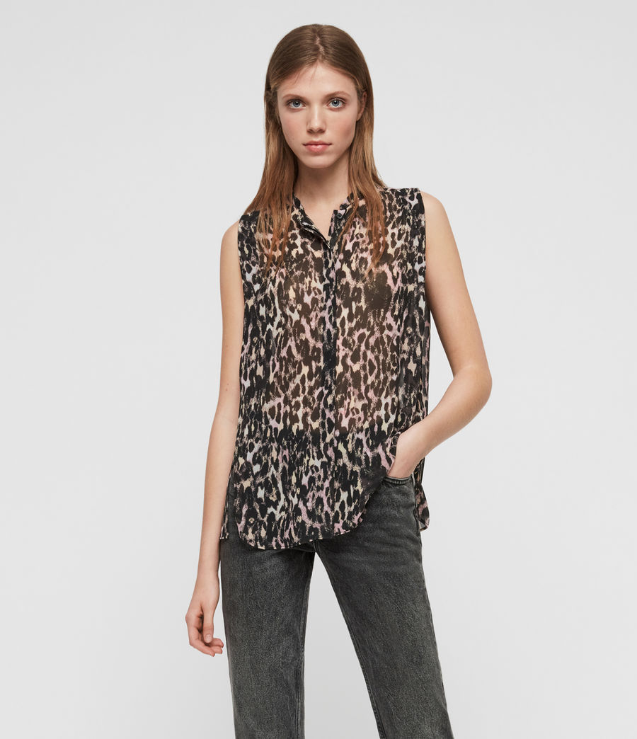 Womens Wing Leopard Shirt (yellow) - Image 1