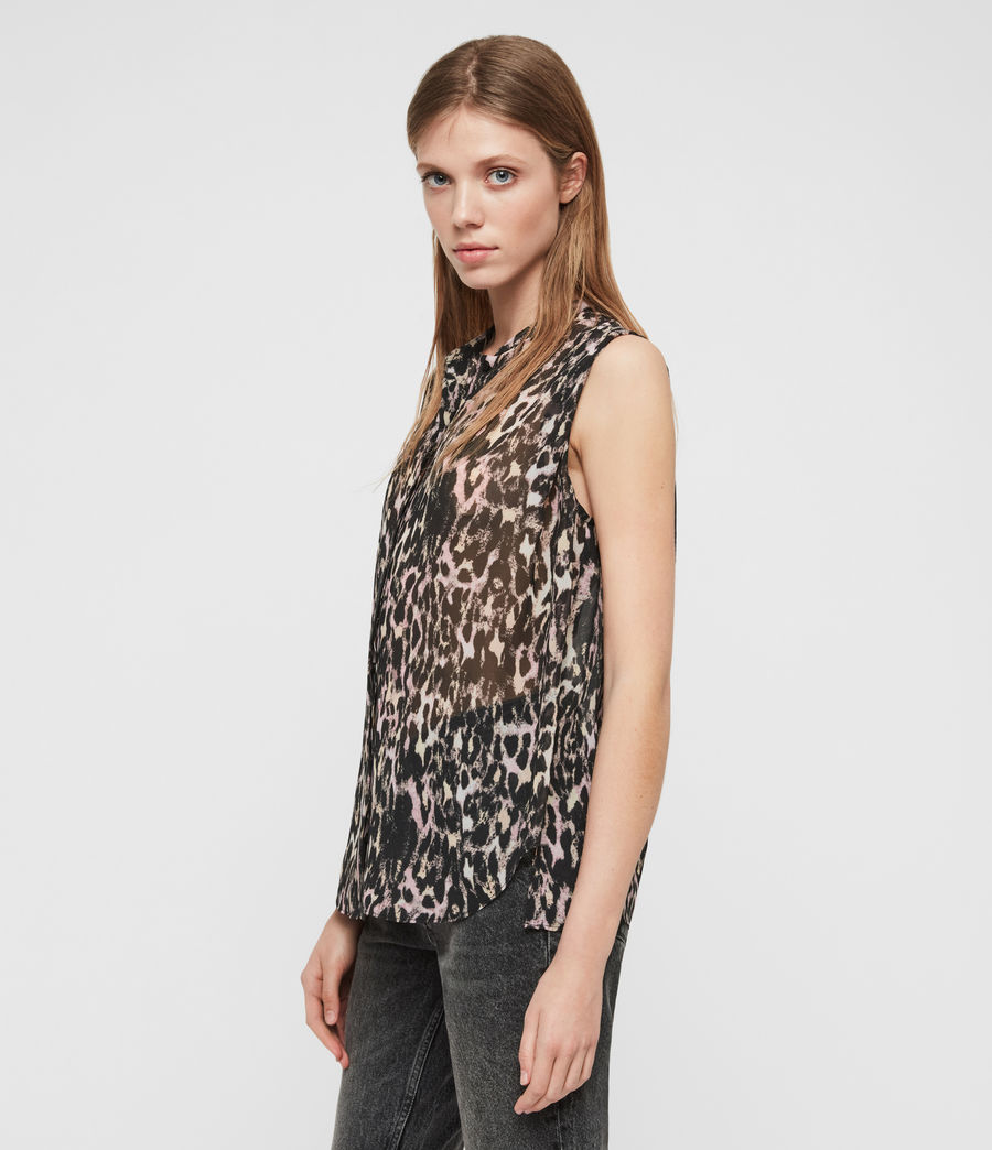 Womens Wing Leopard Shirt (yellow) - Image 2