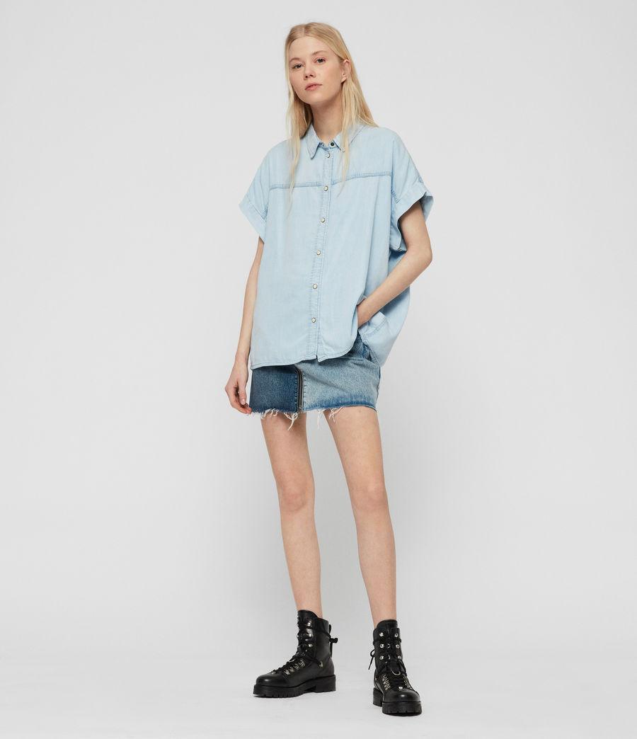 Women's Pome Bay Shirt (bleach_indigo_blue) - Image 1
