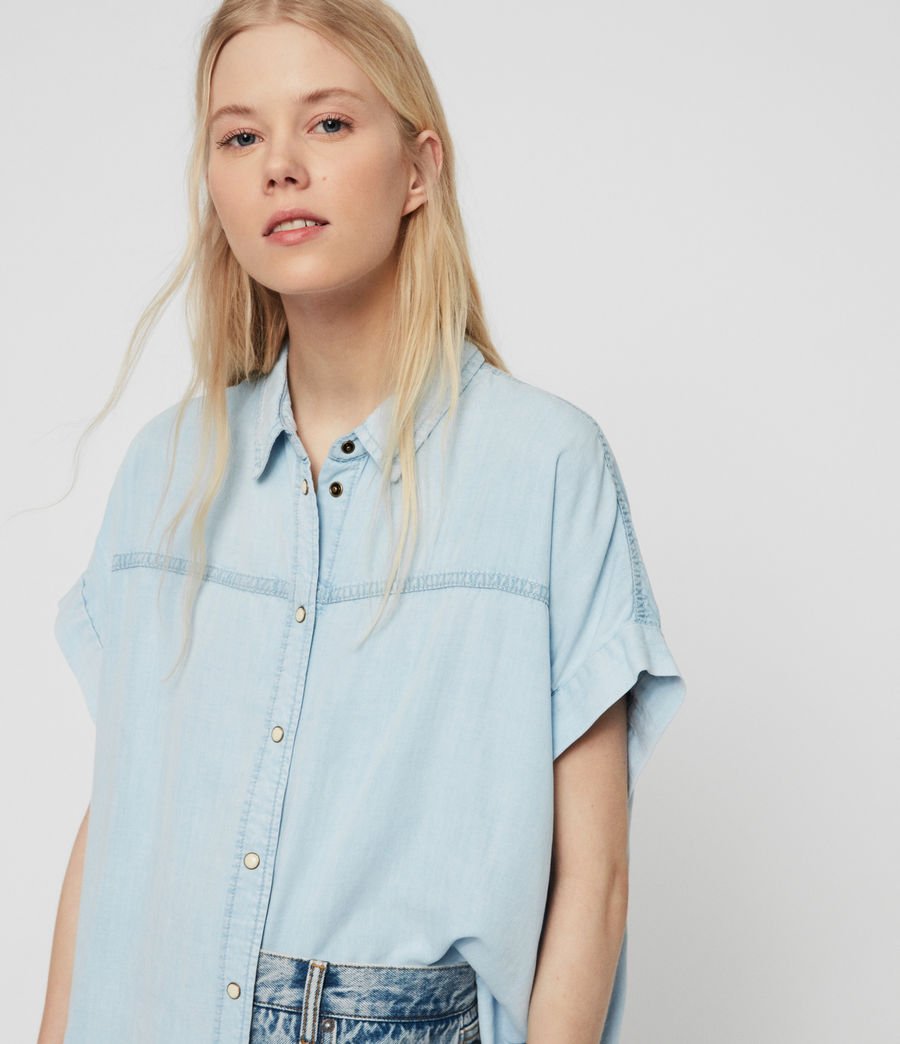 Womens Pome Bay Shirt (bleach_indigo_blue) - Image 1