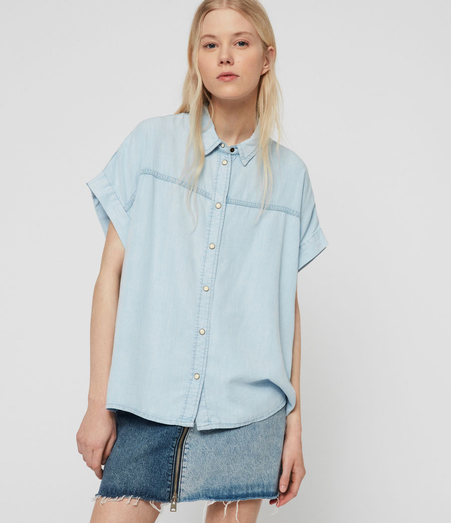 Womens Pome Bay Shirt (bleach_indigo_blue) - Image 2