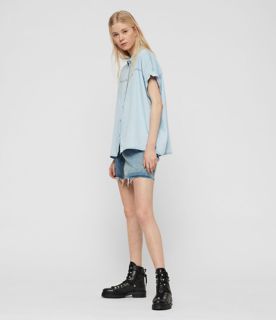 Womens Pome Bay Shirt (bleach_indigo_blue) - Image 3