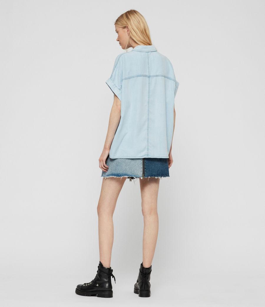 Women's Pome Bay Shirt (bleach_indigo_blue) - Image 5