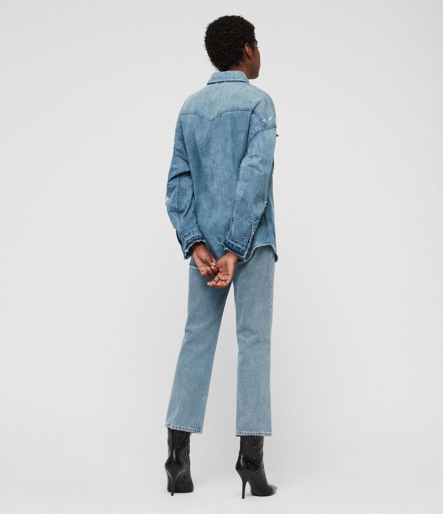 Women's Harper Oversized Denim Shirt (indigo_blue) - Image 5