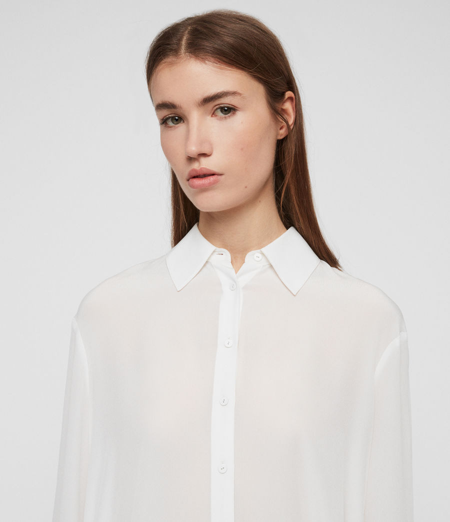 Womens Anya Shirt (chalk_white) - Image 4