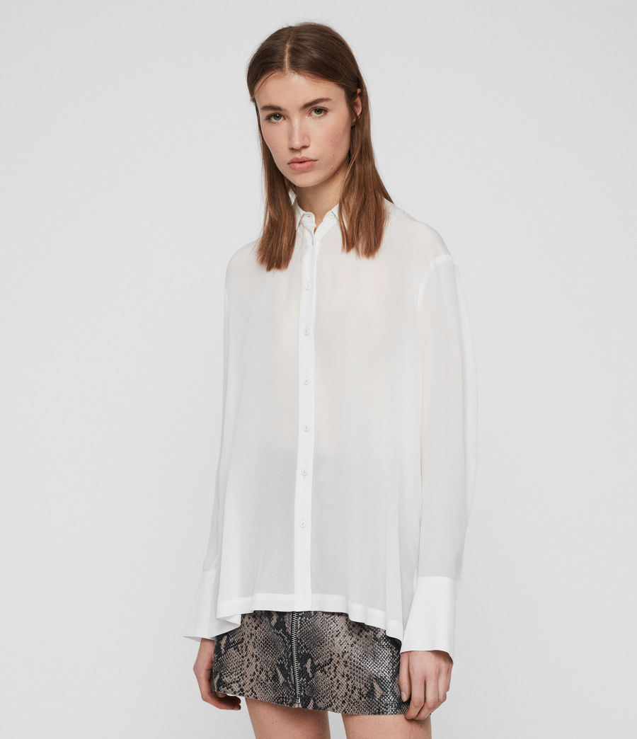 Womens Anya Shirt (chalk_white) - Image 5