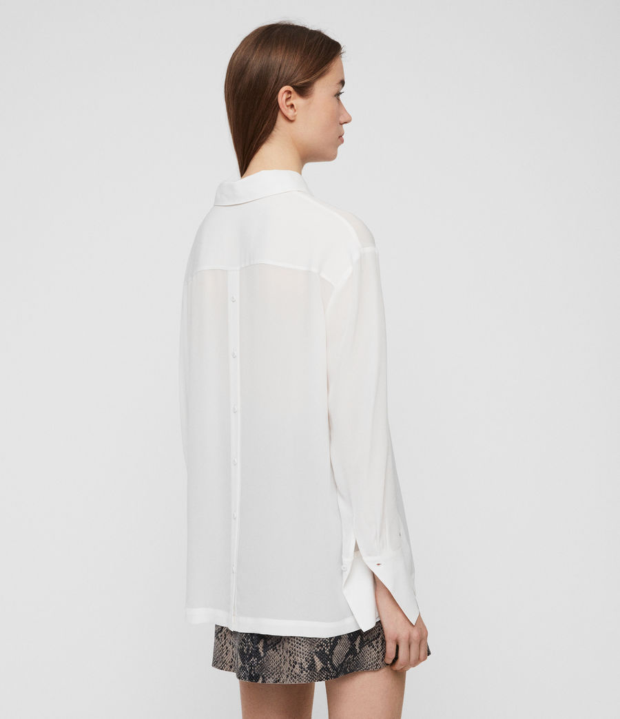 Womens Anya Shirt (chalk_white) - Image 6