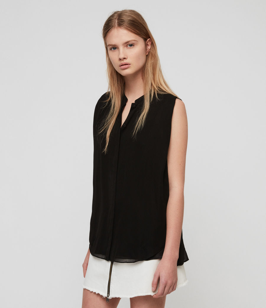 Damen Wing Bluse (black) - Image 1