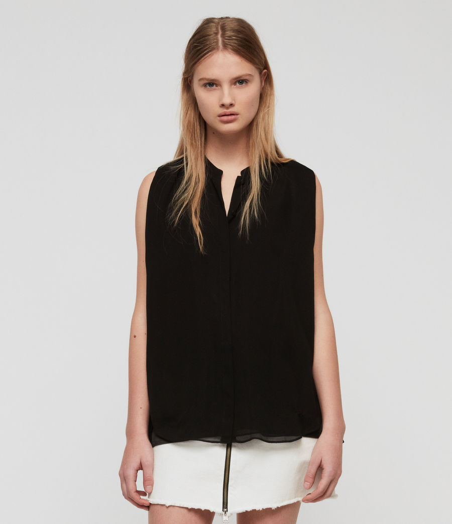 Damen Wing Bluse (black) - Image 4