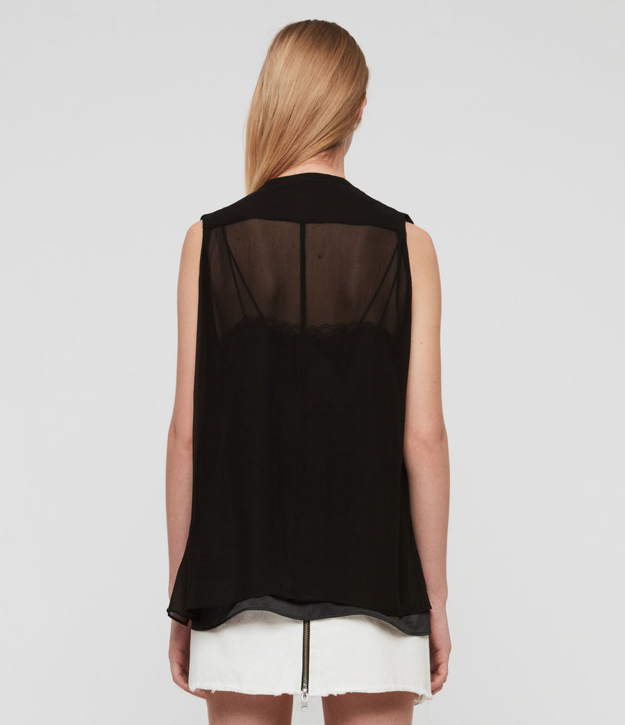 Damen Wing Bluse (black) - Image 5