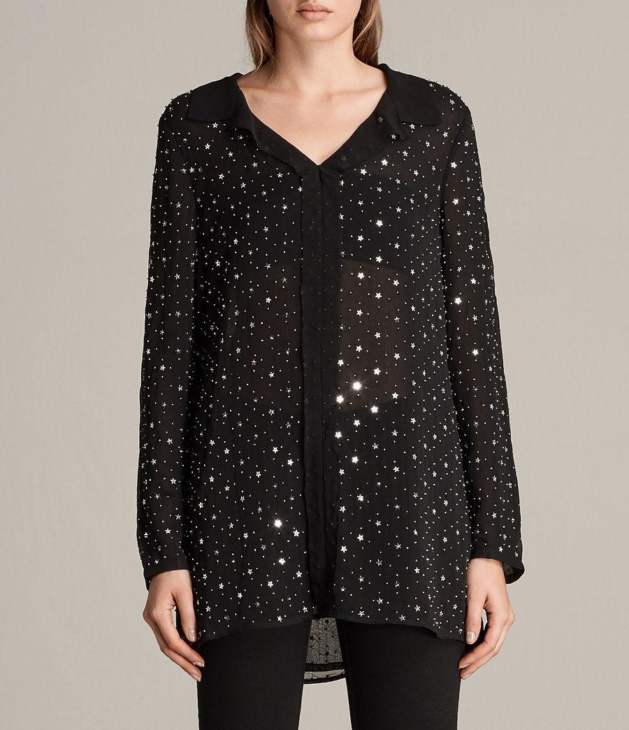 8db5b60ca079 ALLSAINTS DE  Damen Shalien Star Bluse (black)