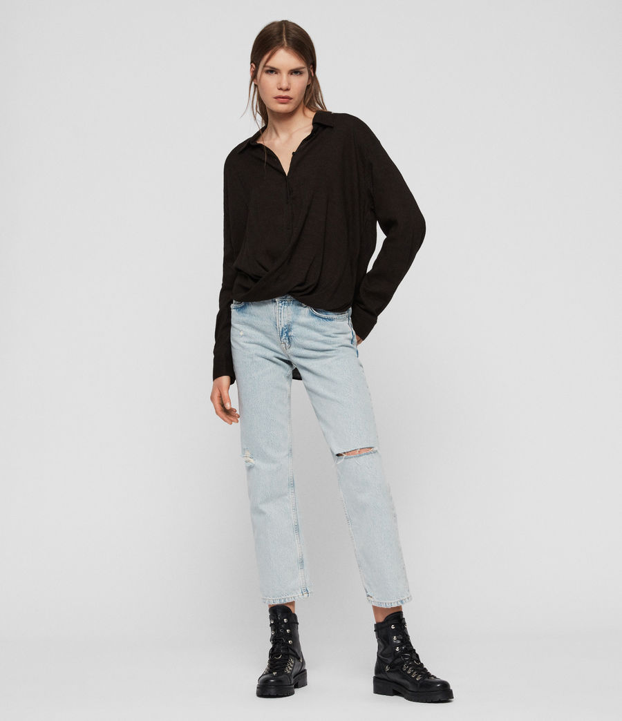 Women's Elina Shirt (black) - Image 2