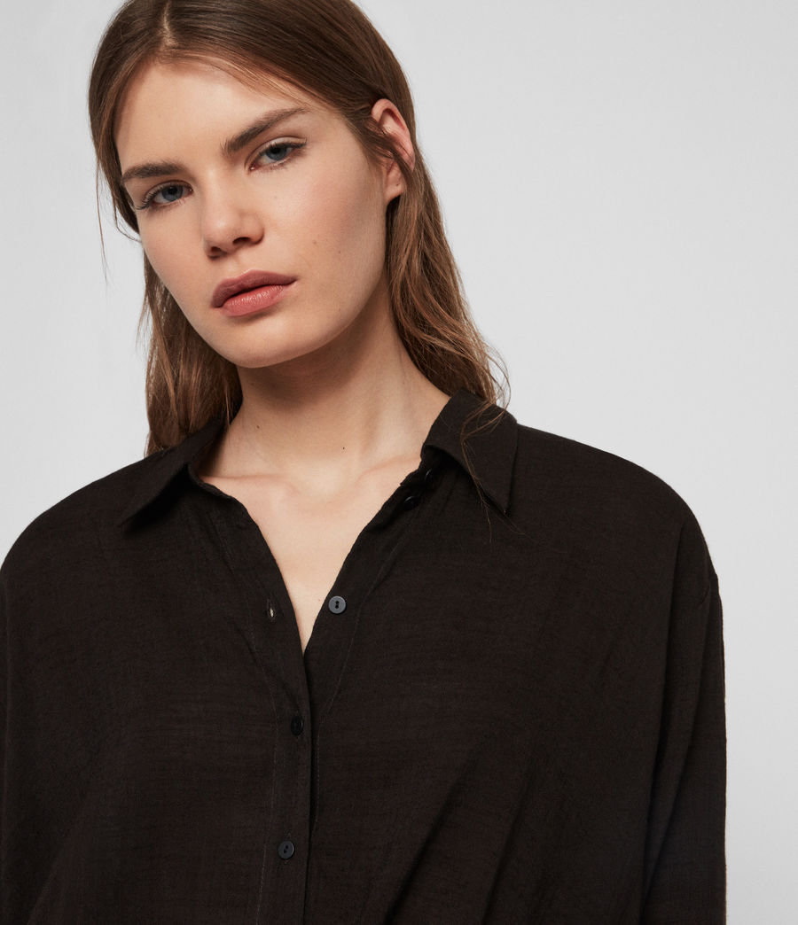 Women's Elina Shirt (black) - Image 3
