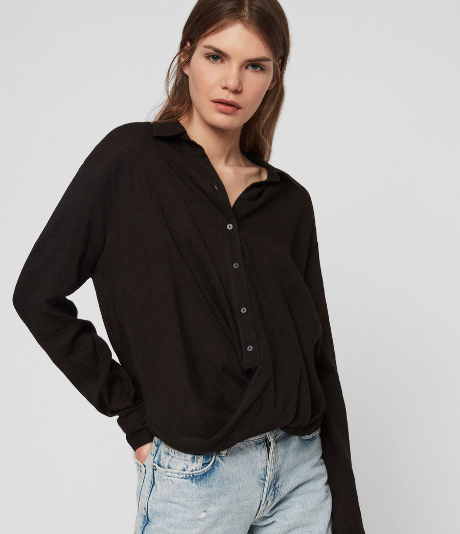 Women's Elina Shirt (black) - Image 4
