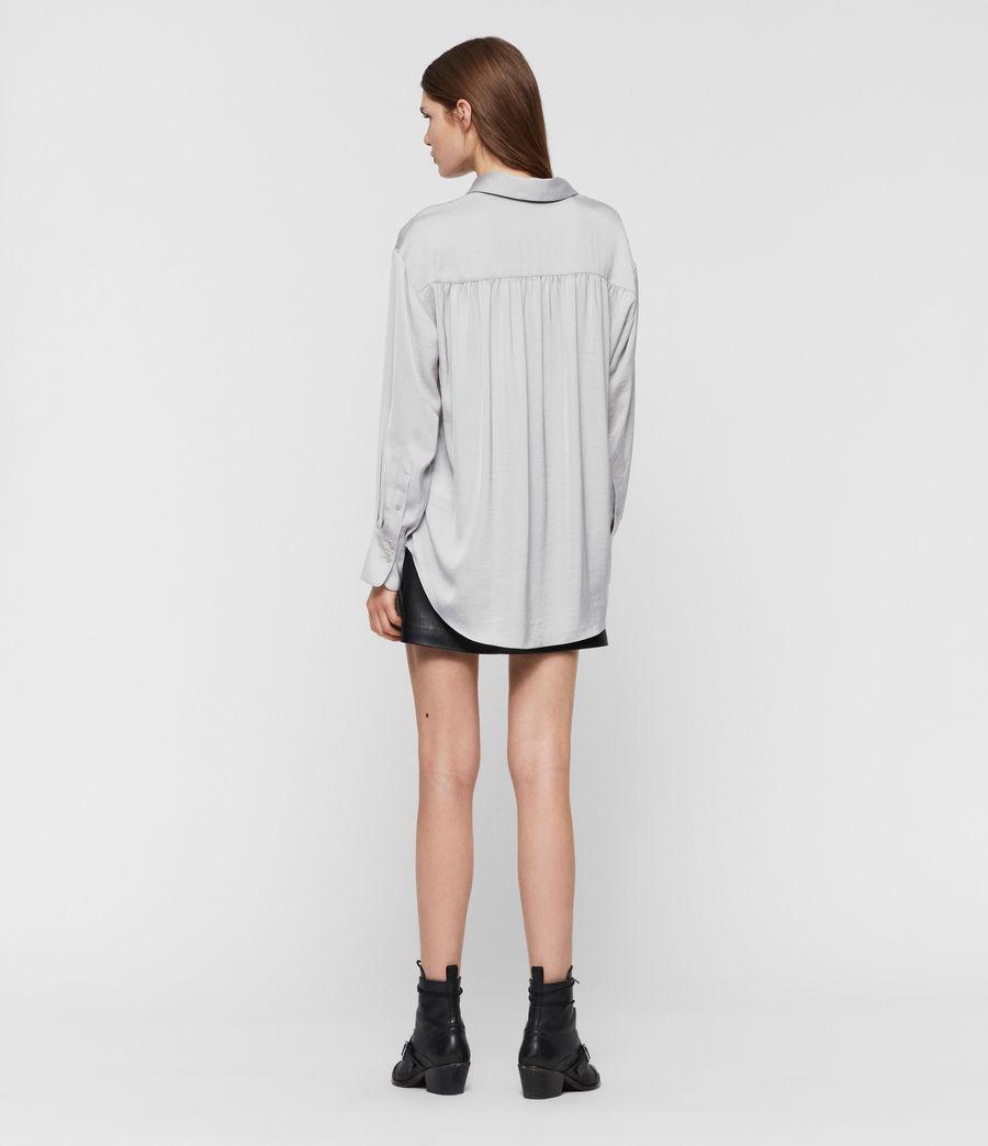 Womens Bernie Satin Shirt (pale_grey) - Image 4