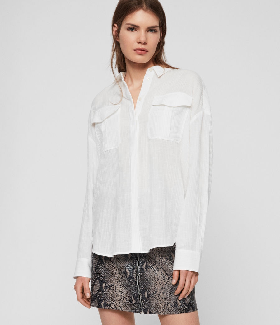 Women's Rye Cotton Shirt (chalk_white) - Image 1
