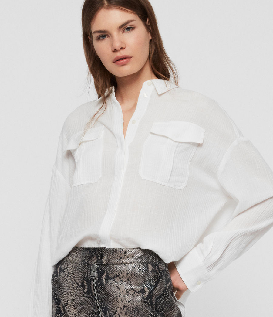 Women's Rye Cotton Shirt (chalk_white) - Image 2