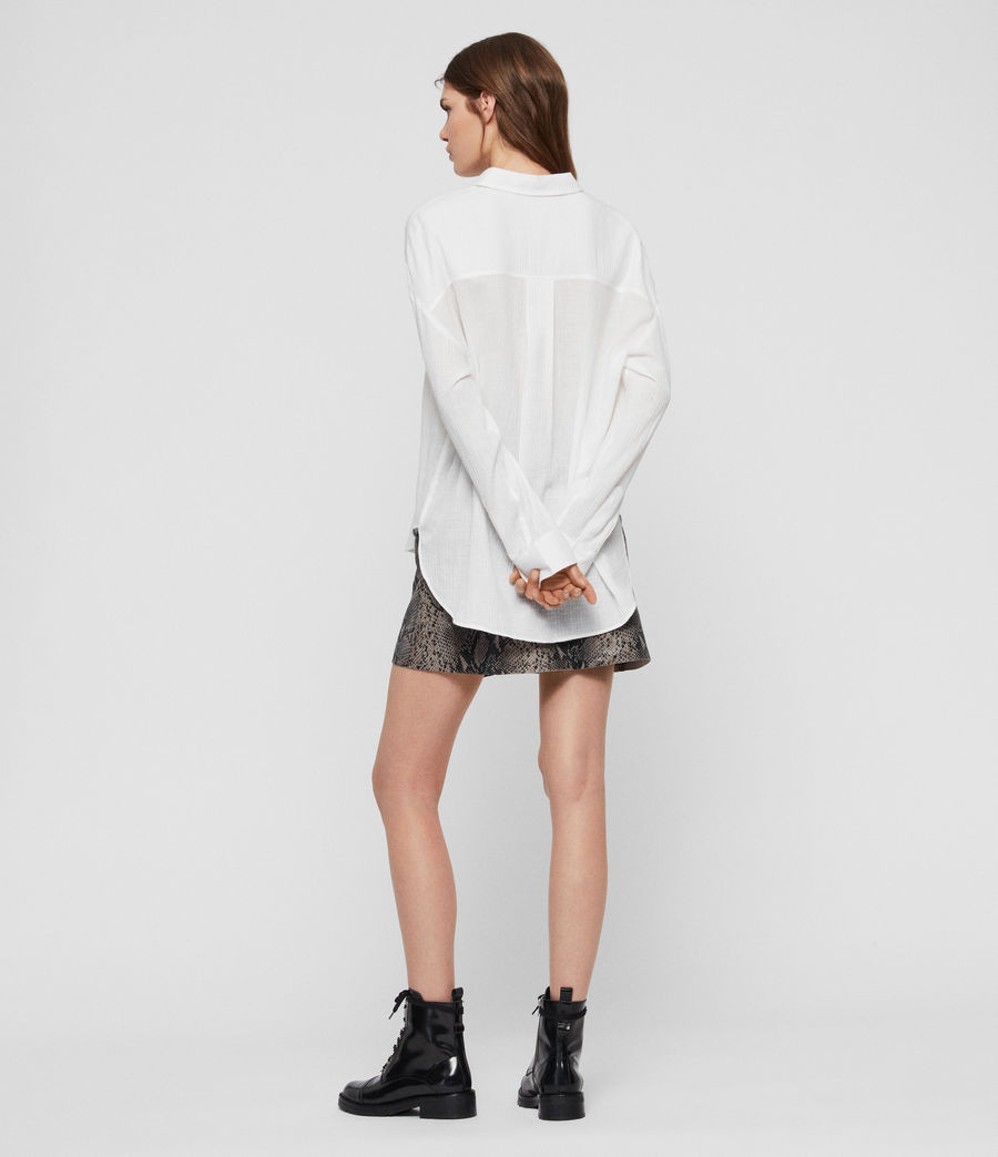 Women's Rye Cotton Shirt (chalk_white) - Image 5