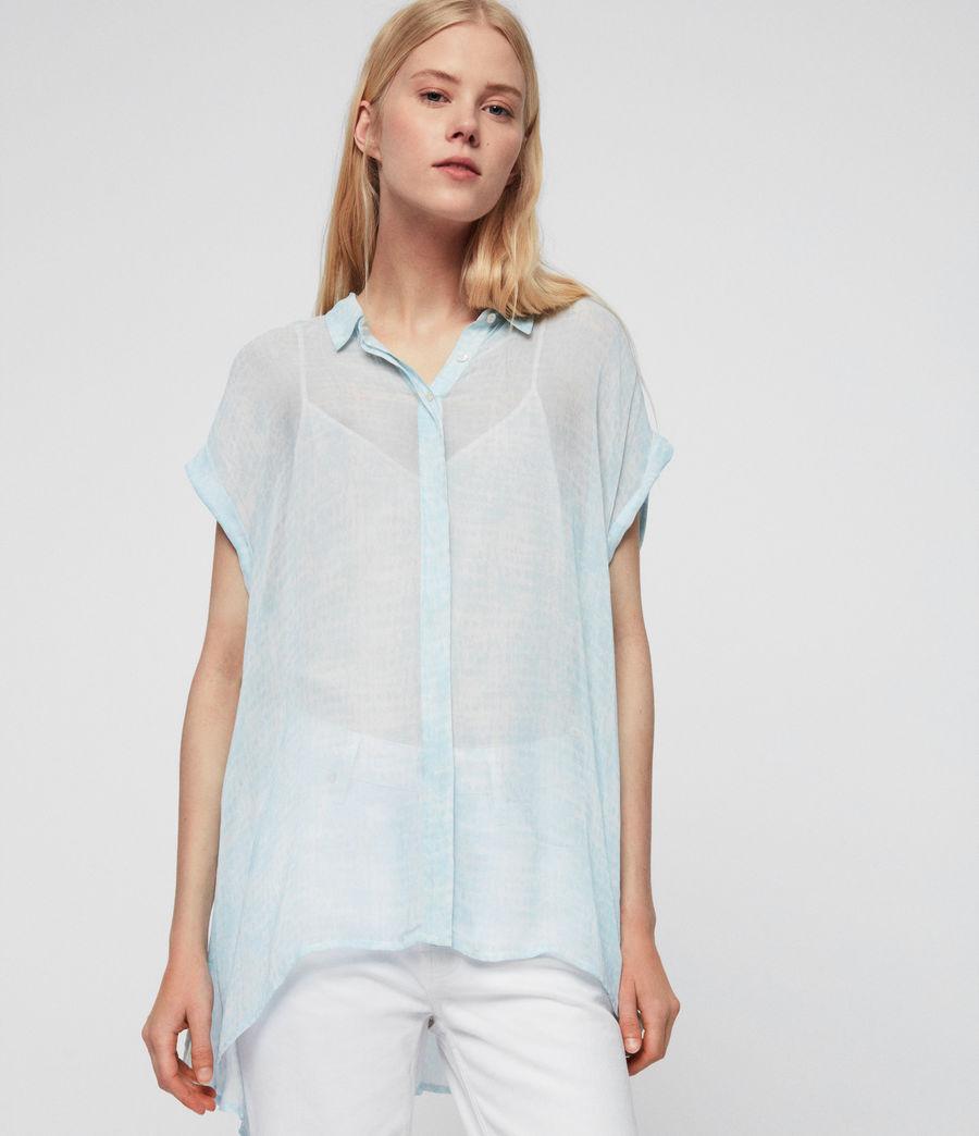 Womens Nisha Blur Shirt (blue) - Image 1
