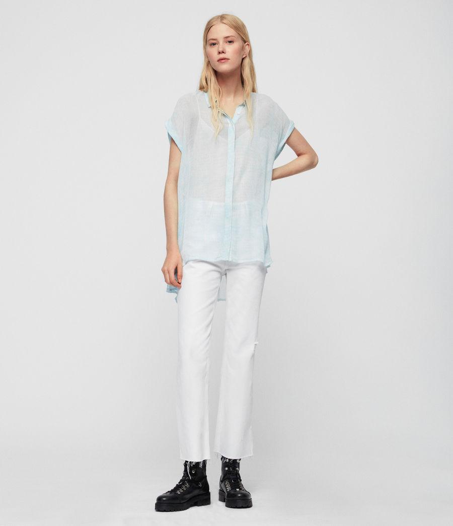 Womens Nisha Blur Shirt (blue) - Image 2