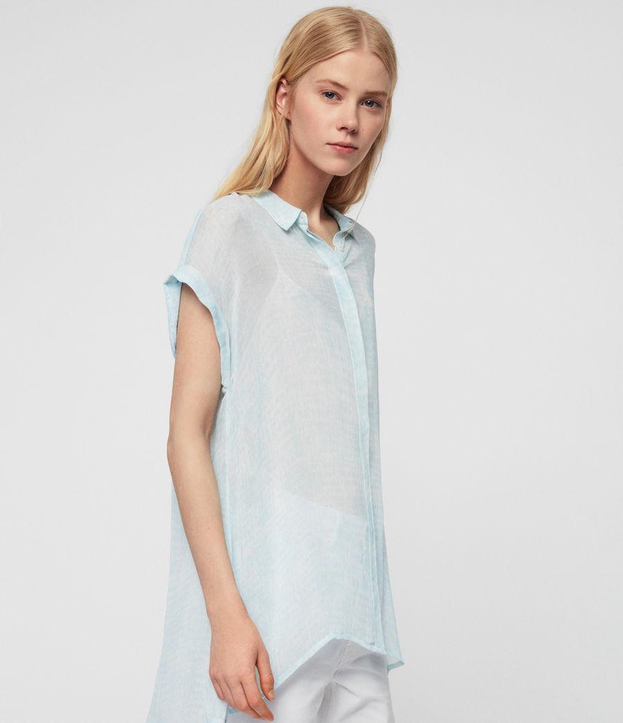 Womens Nisha Blur Shirt (blue) - Image 4