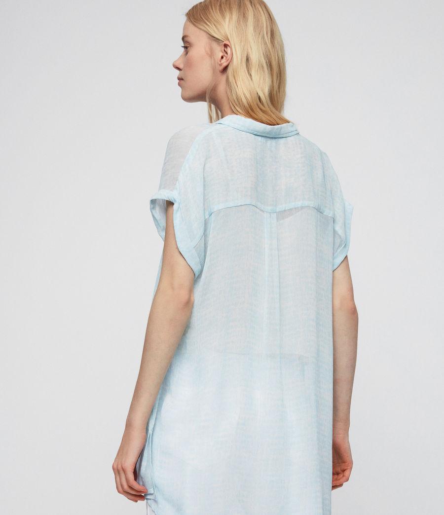 Womens Nisha Blur Shirt (blue) - Image 5