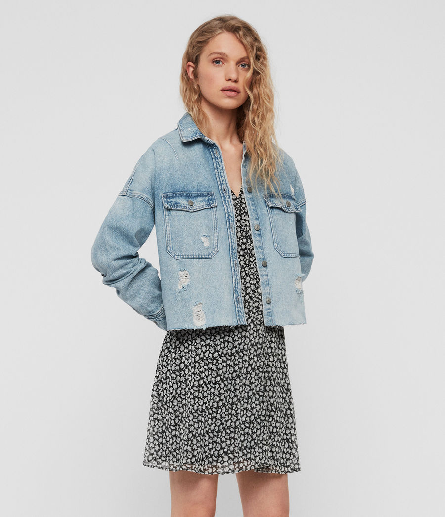 Womens Kyrie Denim Shirt Jacket (light_indigo_blue) - Image 3