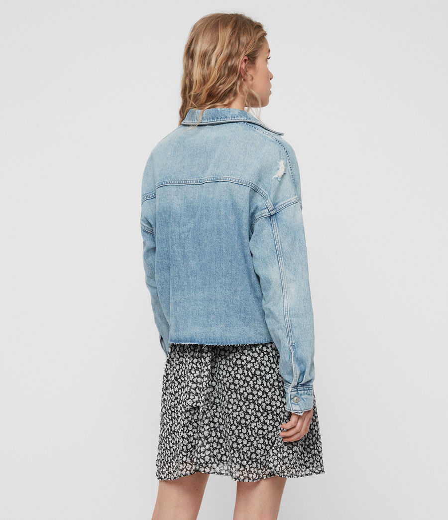 Womens Kyrie Denim Shirt Jacket (light_indigo_blue) - Image 4