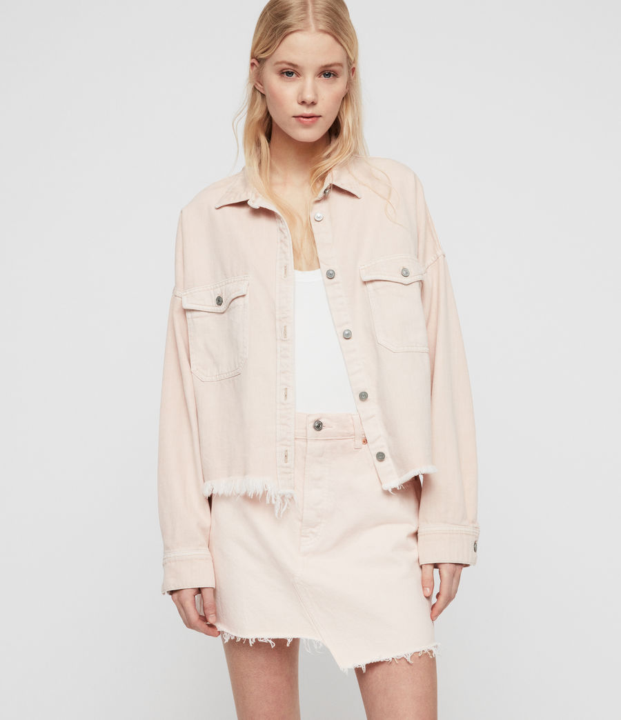 Women's Kyrie Denim Shirt Jacket (pale_pink) - Image 1