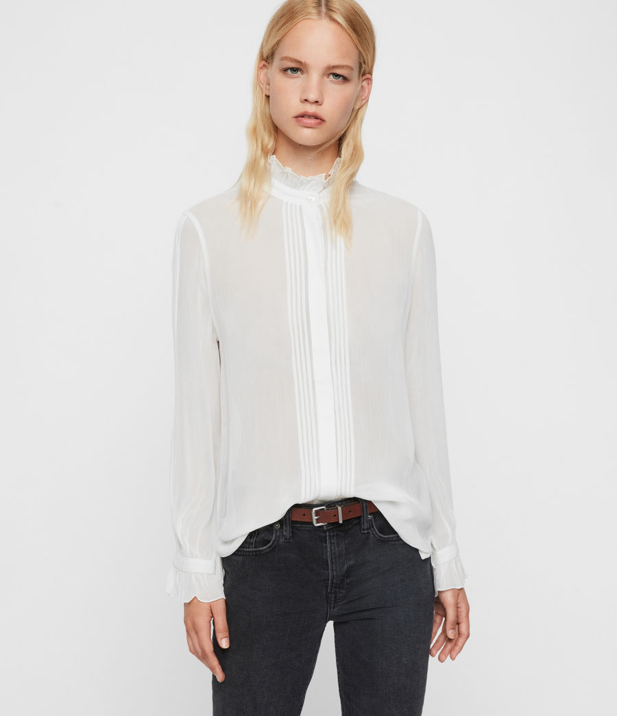 Womens Louise Shirt (chalk_white) - Image 2