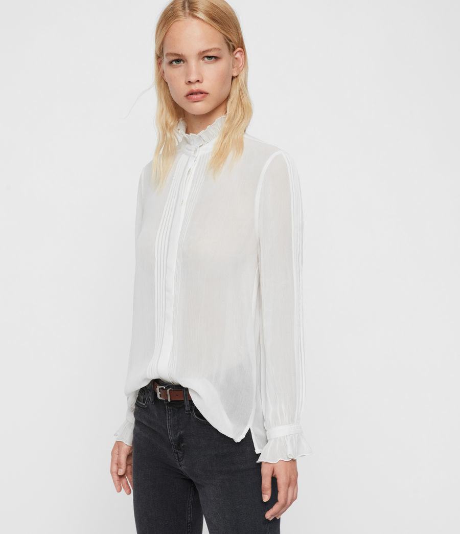 Womens Louise Shirt (chalk_white) - Image 3